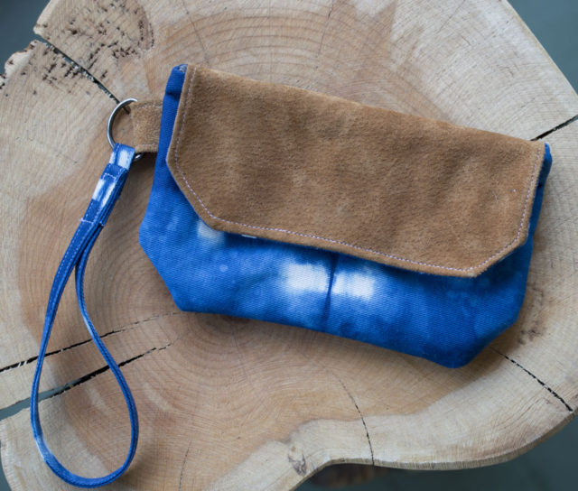 Other Reasons to Sell at a Craft Fair! Indigo Clutch-by a happy stitch