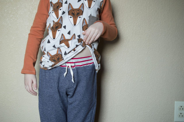 Sewing for Wild Boys : Fox Tee and Twisted Trousers | sewn by a happy stitch