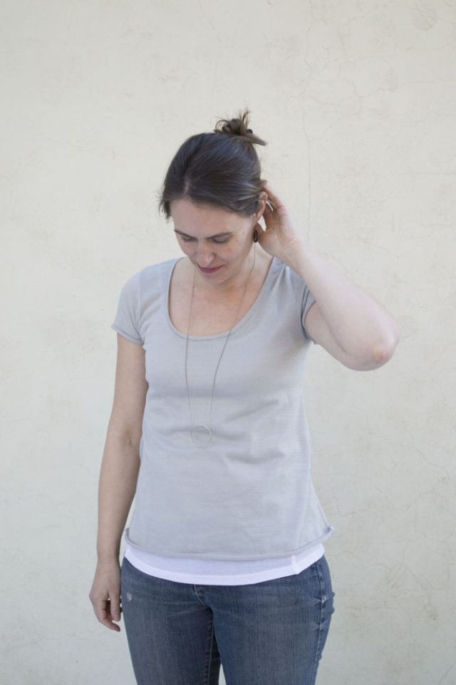 Everyday Elegance : A Sweater Knit Tee || sewn by a happy stitch