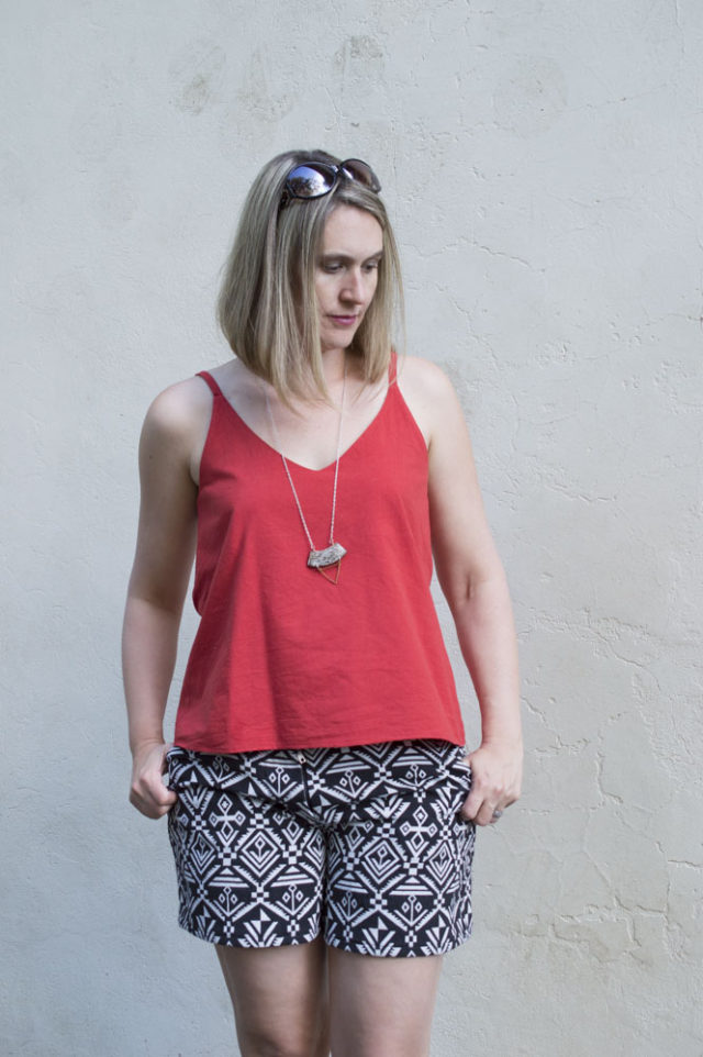 Ogden Cami in Tomato Red :: Perfect Summer Top || A Happy Stitch