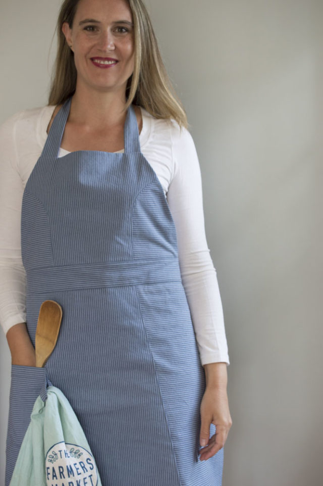 """The """"So Many Tomatoes"""" Striped Modern Apron _ sewn by a happy stitch"""