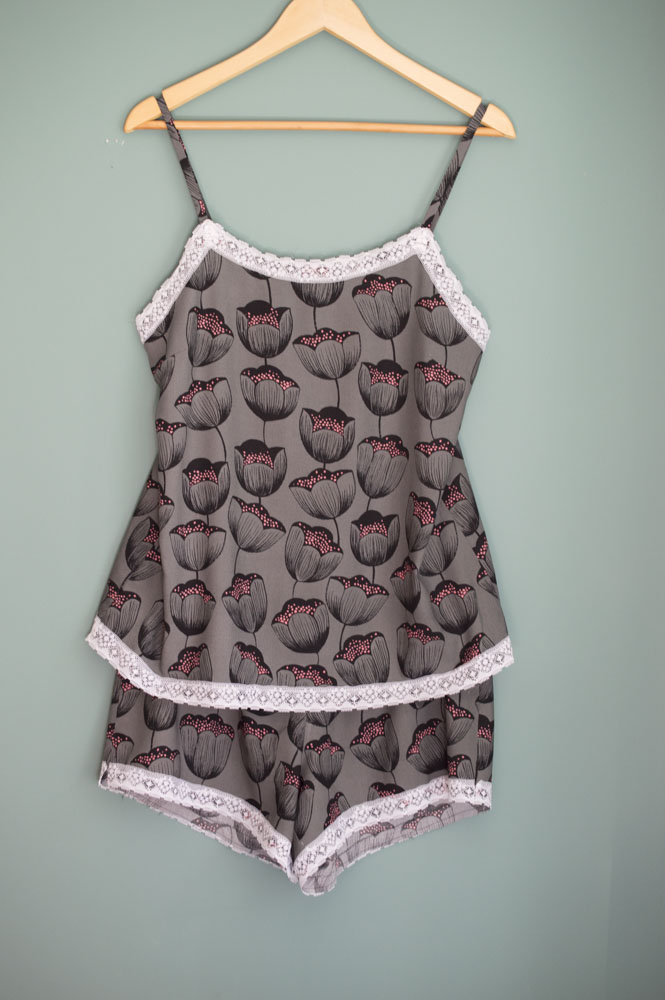 Camisole And Shorts Nightie A Happy Stitch