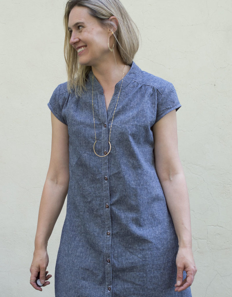 The Chambray Shirtdress : a Marigold Pattern Hack
