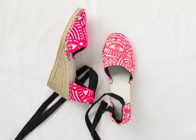 Wedge Espadrille Kits IN Evil Eye Hot Pink - THE ESPADRILLES KIT - A HAPPY STITCH