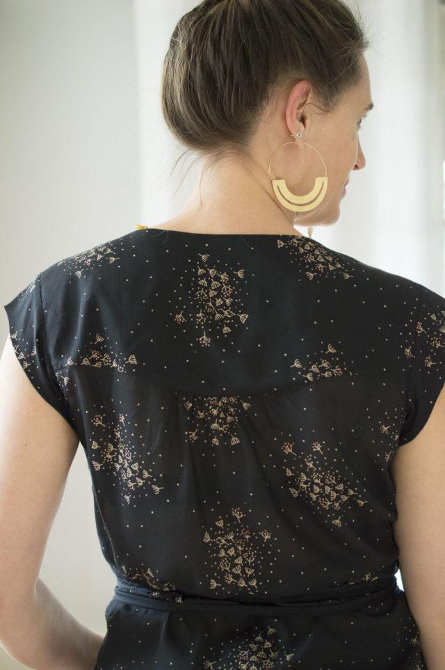 wrap top VONDEL - pattern by Halfmoon Atelier - sewn by A HAPPY STITCH- Melissa Quaal