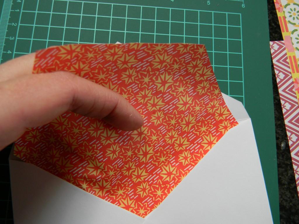 step 3 of pretty envelopes