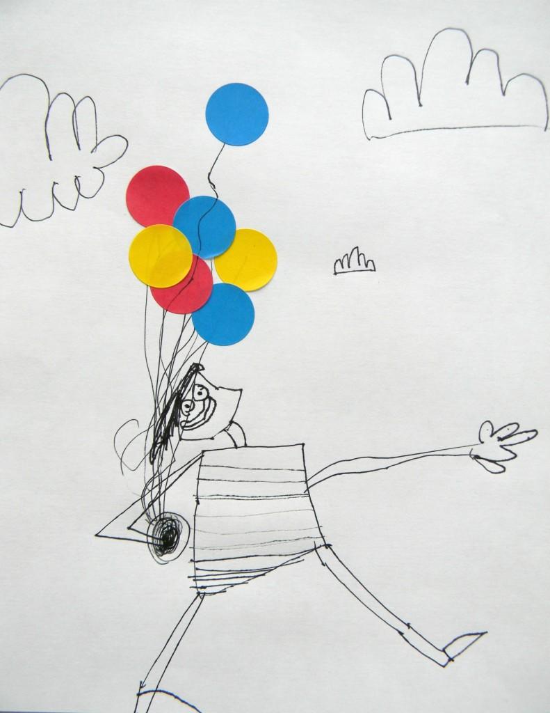 crazy balloon dot man