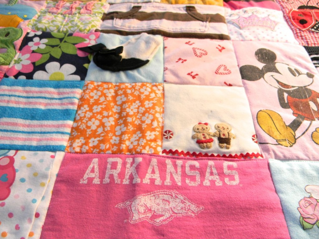 baby clothes quilt by a happy stitch