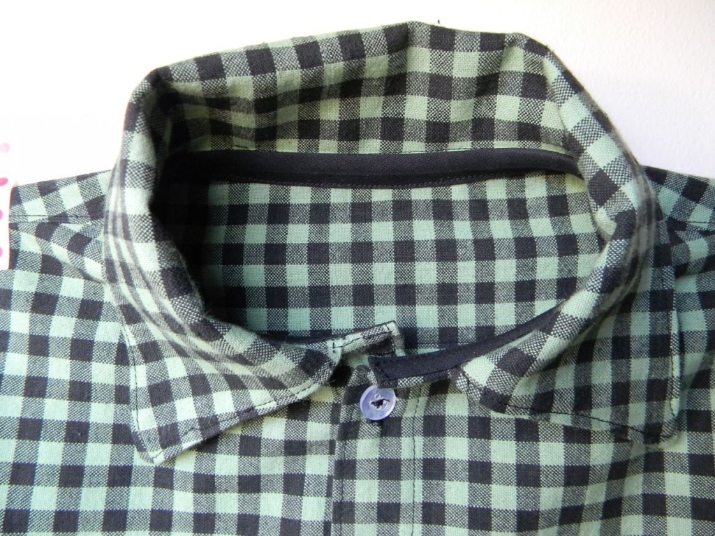 collar on the handsome shirt