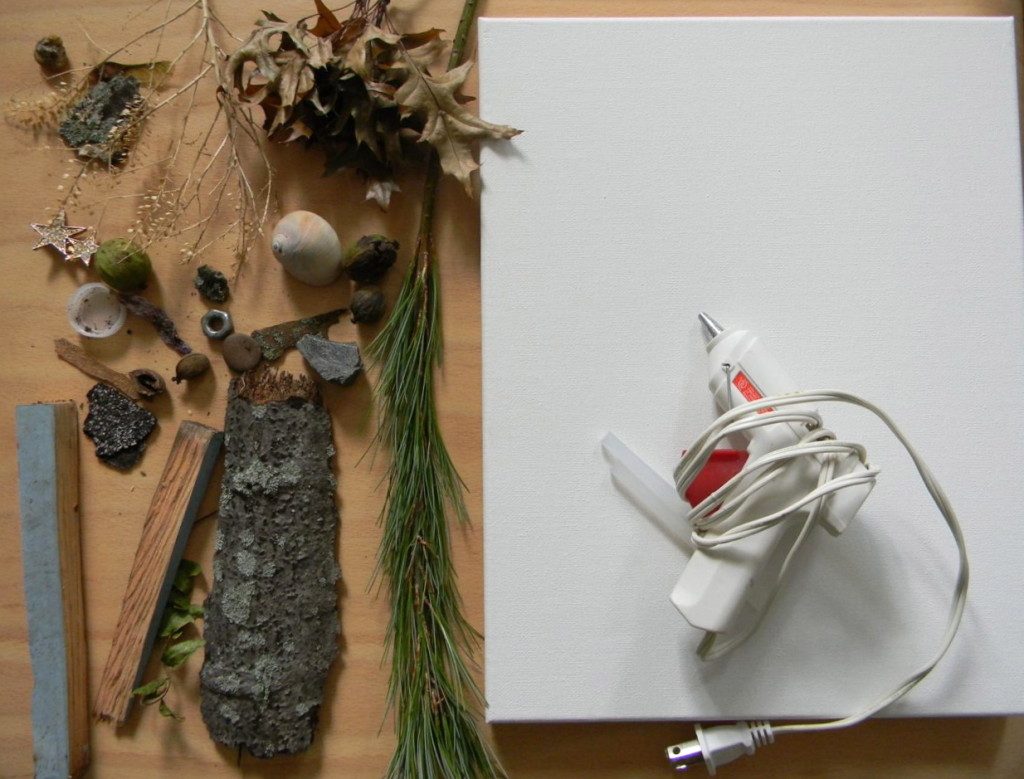 backyard art camp :: summer series of artist inspired project--found object art in the style of Peter Blake