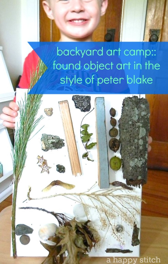 backyard art camp :: the first project in a summer-long series of artist-inspired projects for kids