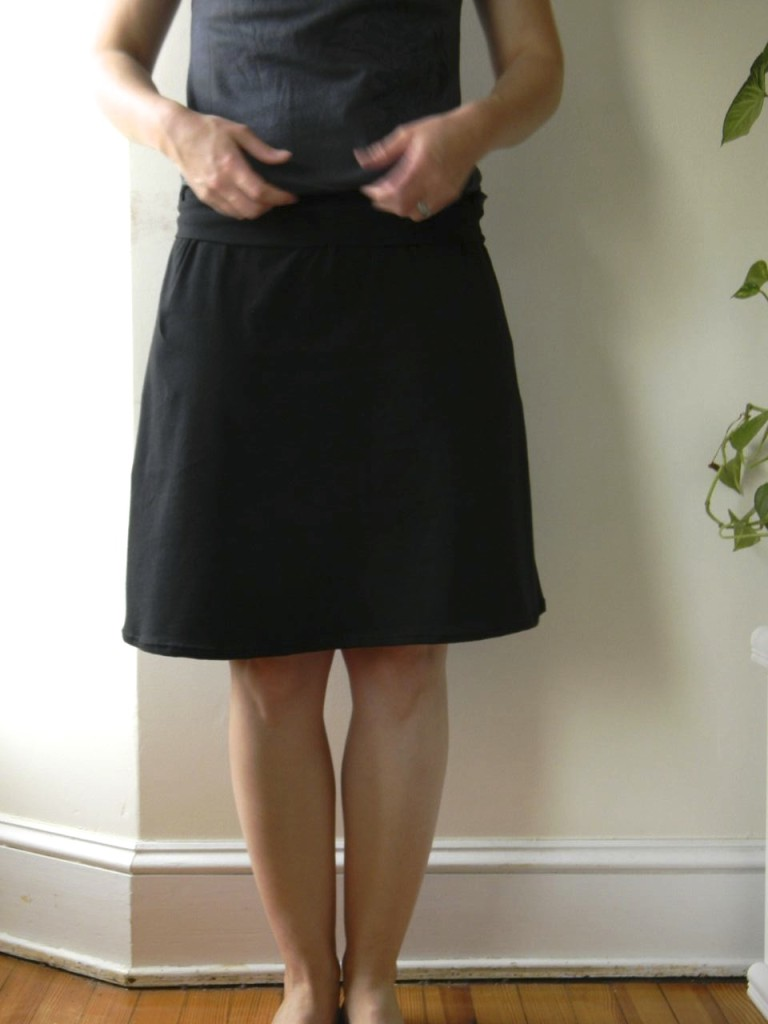 black knit skirt