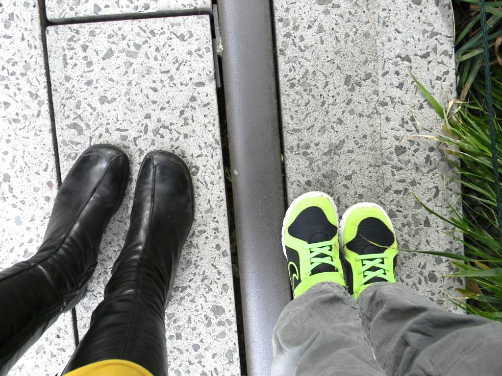 feet on the high line