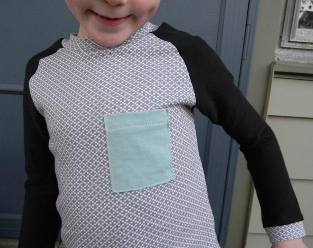 cutie pie raglan boy with tiny pocket