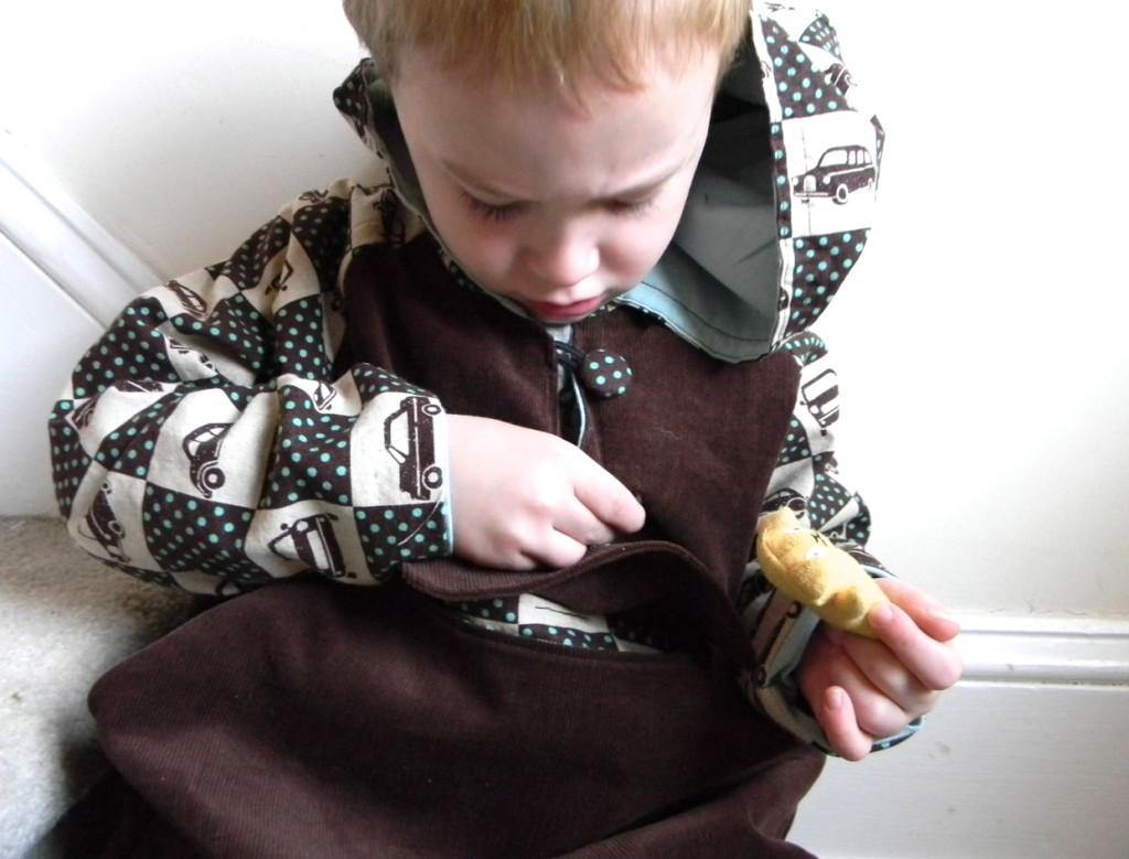 investigating the secret pocket of a luka hoodie