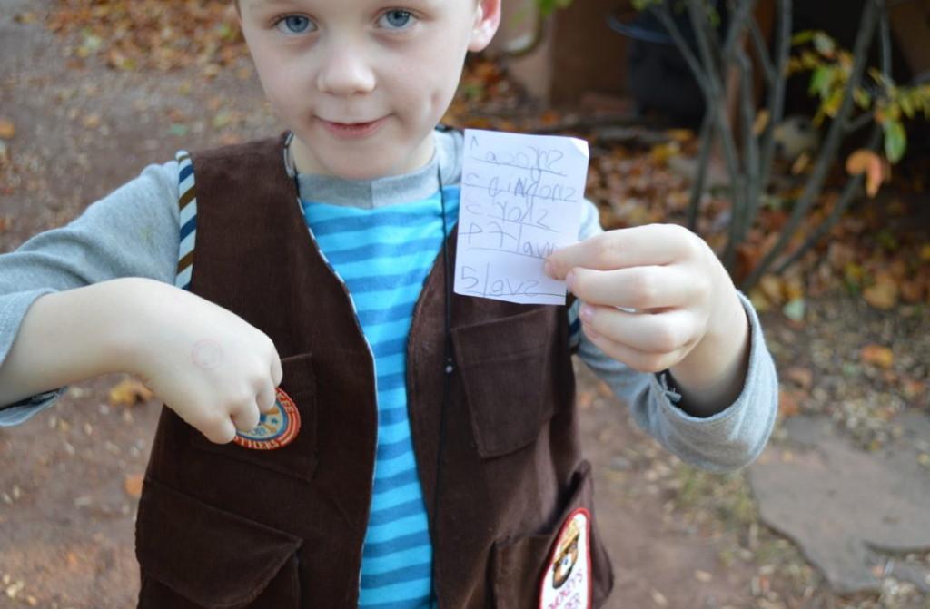 explorer vest with nature list
