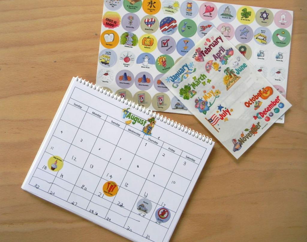 calendar for kids - a happy stitch