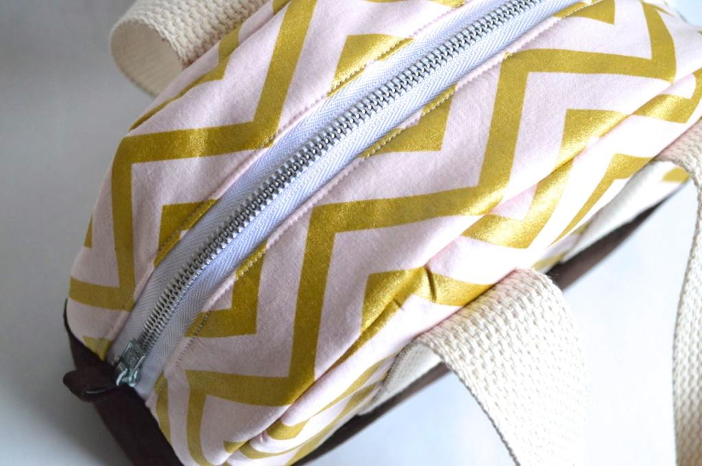 zipper detail for glitz blitz travel bag