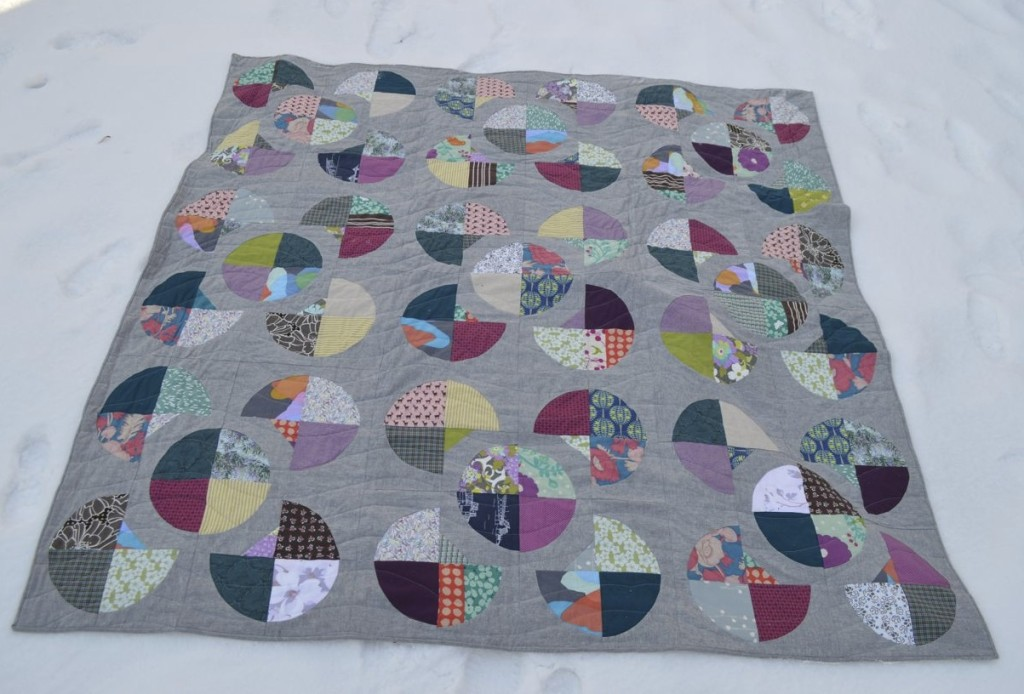 flower quilt quilted (from a happy stitch)