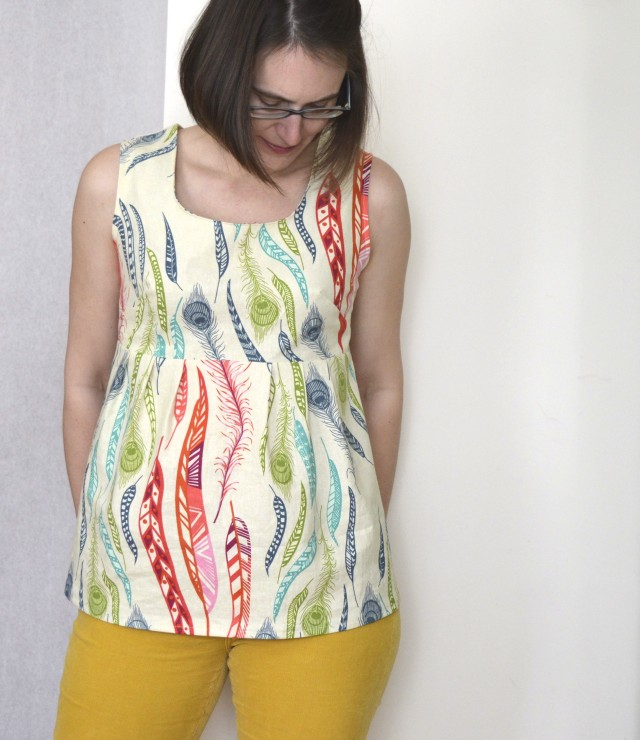 Washi Tunic in AMH linen --made by a happy stitch