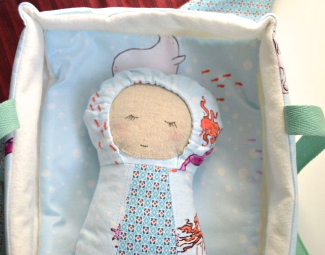 Baby Doll in Carrier_Sew Fab Pattern Sale made by a happy stitch