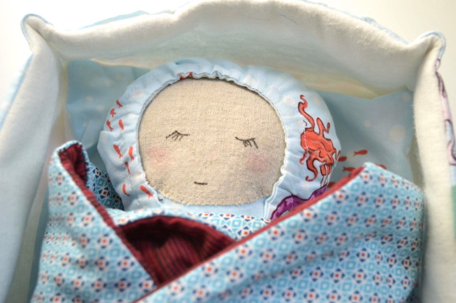 baby doll in carrier pattern by patchwork posse-sewn by a happy stitch