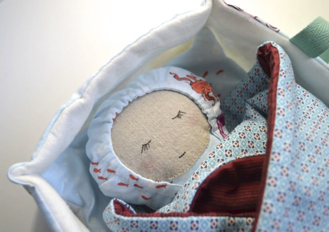 sweet baby doll in carrier with blanket _Sew Fab Pattern Sale_ Made by a happy stitch