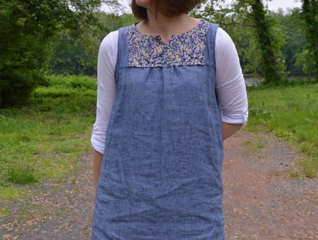 Liberty and Linen Poppy Tunic by Make It Perfect | made by a happy stitch from the Perfect Pattern Parcel #3