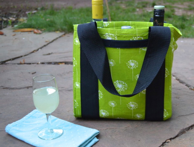 Water Bottle Carrier transformed into a BBQ carry-all | made by a happy stitch (Perfect Pattern Parcel 3)