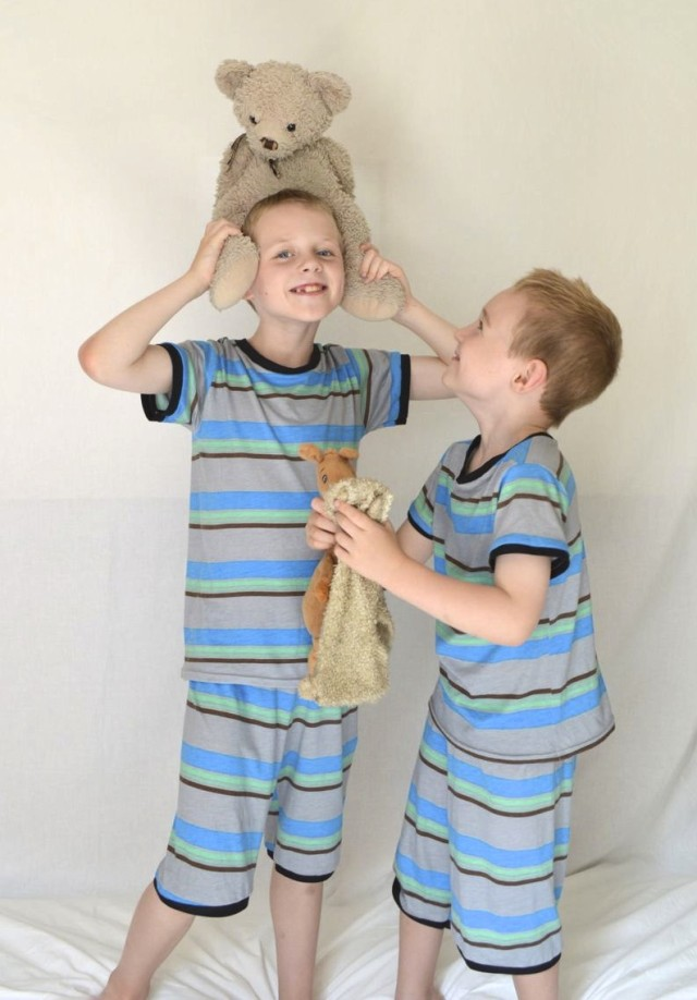 matching pj's for boys | part of Kid's Clothes Week made by  a happy stitch