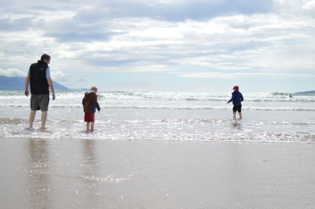 family trip to Ireland _ Inch Beach near Dingle