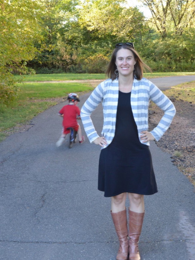 Snuggly Stripey Julia Cardigan | Perfect fall weather cardi made by A Happy Stitch