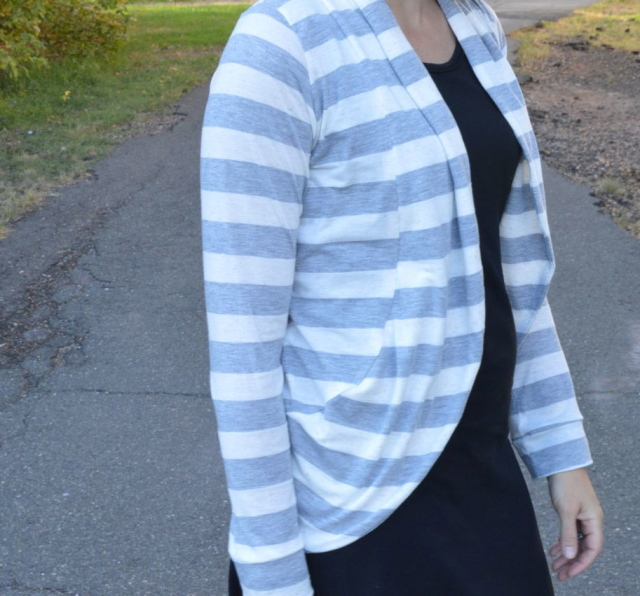Snuggly Stripey Julia Cardigan | a happy stitch