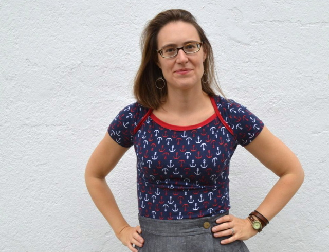 Nautical Bronte Top from Jennifer Lauren in Perfect Pattern Parcel | made by Melissa from A Happy Stitch