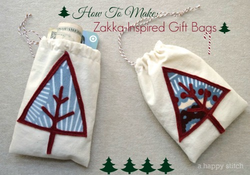 How To Make Zakka-Inspired Gift Bags