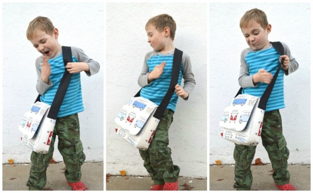 Messenger BAg for kids - modified pattern from a happy stitch