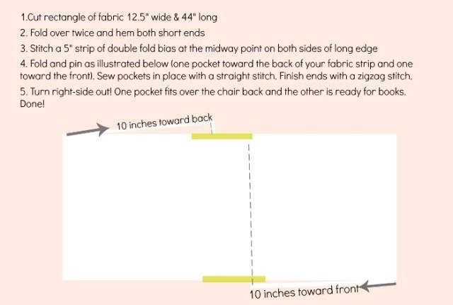 making a kindergarten chair pocket