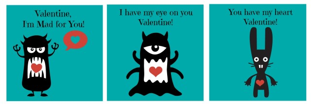 monster valentine printables!