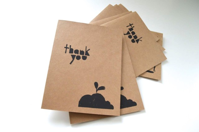 Thank you for helping me grow! | hand-stamped thank you cards