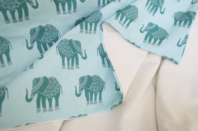 Swaddle Blanket | One side cotton; one side knit jersey :: Perfect as a swaddled or just a blanket for baby | a happy stitch