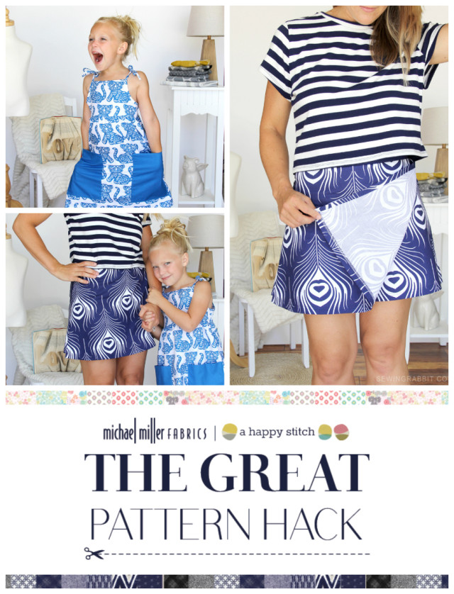 Great Pattern Hack _ The Sewing Rabbit Hacked Shorts into a Skort