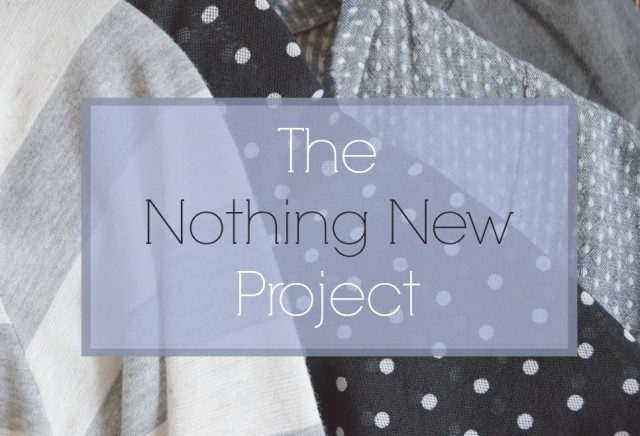 the nothing new project- my year of used, handmade and swapped