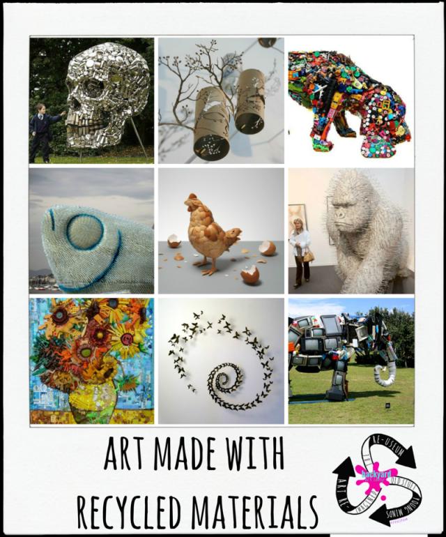 Backyard Art Camp :: Recycled Art Inspiration