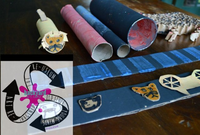 Backyard Art Camp :: Child-Led Art with Recycled Materials