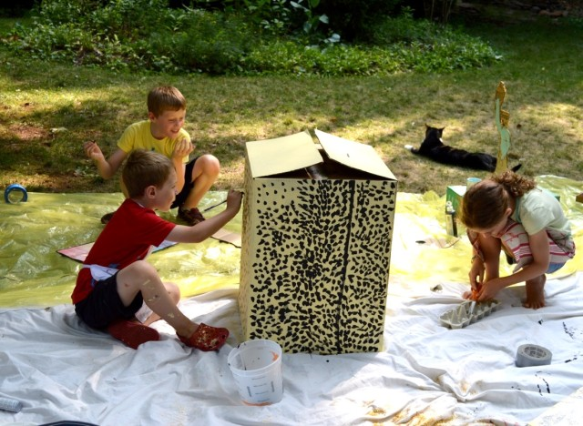 Re-useum :: Backyard Art Camp Party