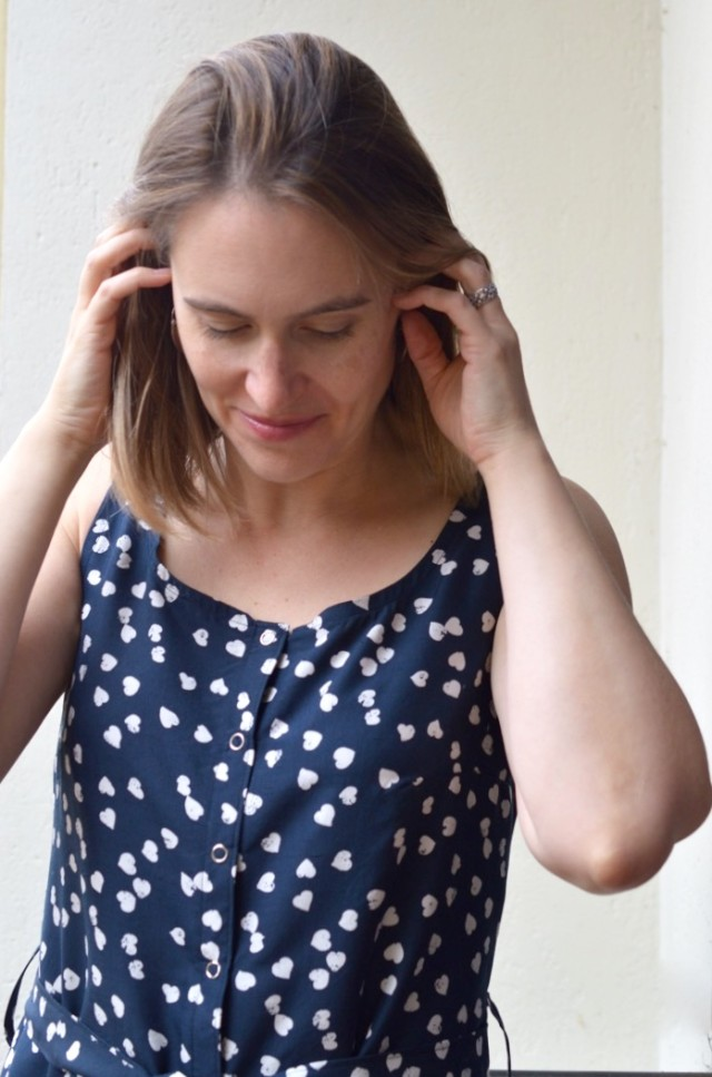 Adelaide Dress in silk // a happy stitch