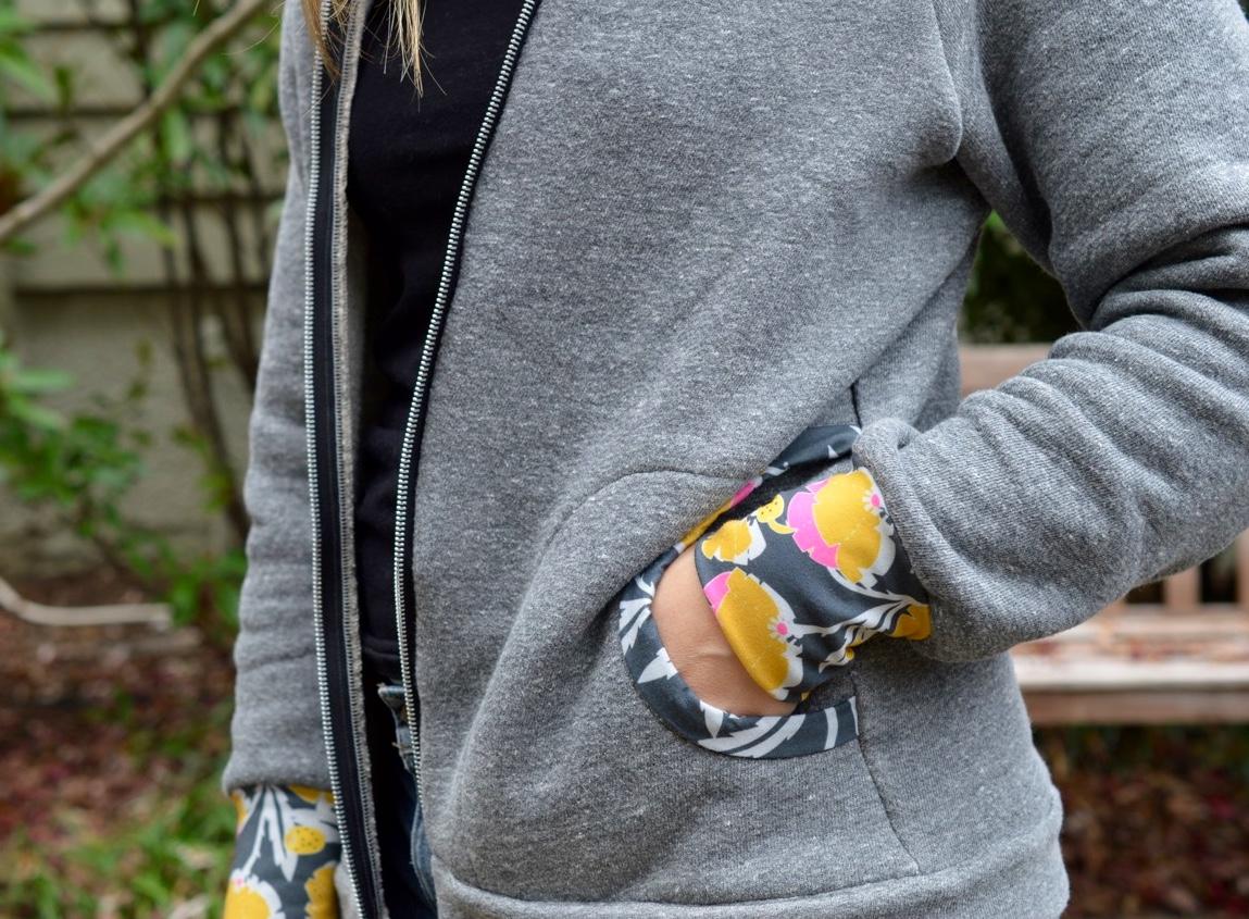 Zinnia Jacket by Blank Slate Patterns //sewn by a happy stitch