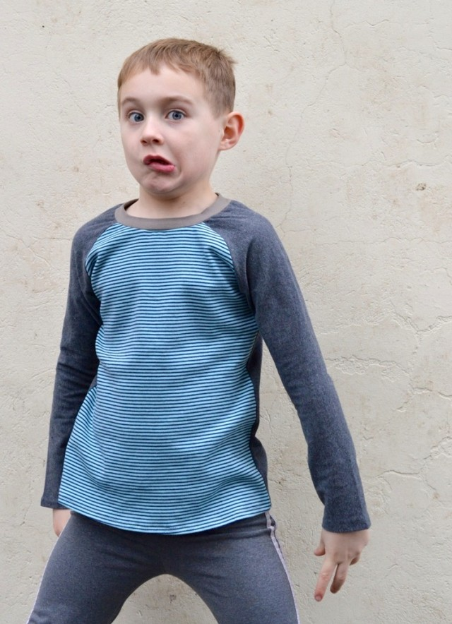 Kid's Clothes Week :: Raglan Tees for Boys // a happy stitch