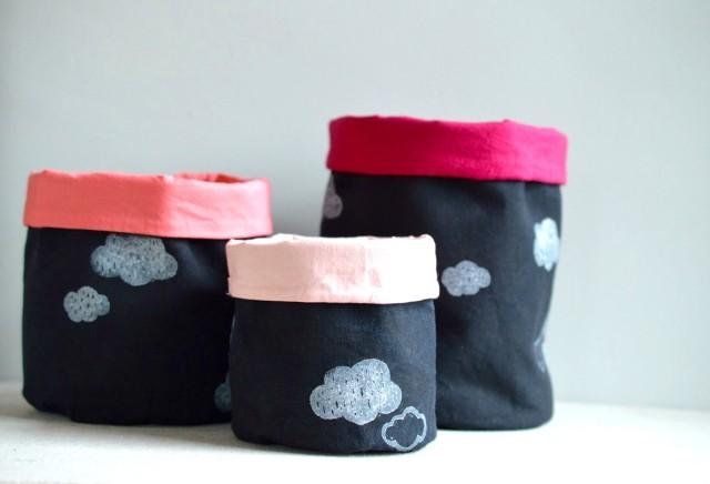 DIY Fabric Buckets // a happy stitch