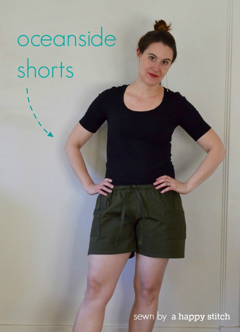 Oceanside Shorts pattern by Blank Slate Patterns sewn by A Happy Stitch